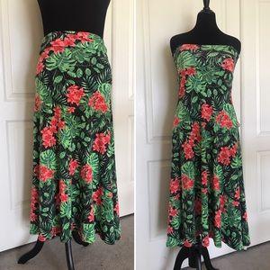 Lularoe Hawaiian tropical maxi skirt dress XS-S-M